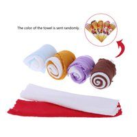 Wholesale Great Towels - 2015 Christmas Ice Cream Shaped Towel Soft and Cute Two-tone Originality Towel Great Gift for Return a Salute at Wedding