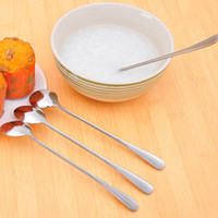 Atacado - 1PCS Multi-Purpose Stainless Steel Long Handle Ice Cream Scoop Coffee Spoon Tableware