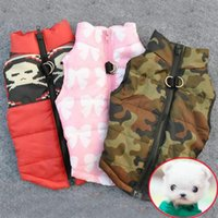 Wholesale Fall Harness - Winter Warm Pet Dog Clothes Vest Harness Puppy Coat Jacket 6 Color Large New