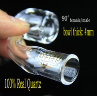 Wholesale Domeless Quartz Nail 18mm - 4mm thick club banger domeless QUAVE CLUB BANGERS QCB quartz nail 14mm 18mm, male female joint 100% Real Quartz free shipping!
