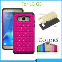 Wholesale Rubbers Lg Optimus - Bling Diamond Starry Rubber Silicone Hybrid aromr rhinestone Case cover for LG G5 K10 Optimus Zone 3 Stylus 2 ls775 stylo 2 plus