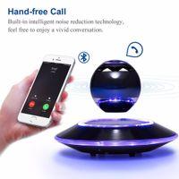 Wholesale floating wireless speaker - Wholesale- Vbluer Levitating Bluetooth Speakers LED Light Portable Wireless Bluetooth 4.0 Floating Orb Levitation Speaker