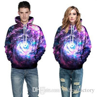New Winter For Womens Mens Fleece Hoodies Giacche stampa 3D Night Sky manica lunga Harajuku Felpe Top Cappotti QYDM 001
