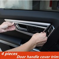 Wholesale Decorative Chrome Trim - Car styling Door handle frame decorative cover trim doorknob sequins Chrome ABS strip for Mercedes Benz GLK 260 300