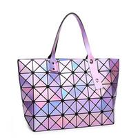 venda de sacos de lantejoulas venda por atacado-Venda quente Hot Mulheres Laser Bag BAOBAO Lantejoulas Bolsas Dobráveis Moda Mulheres Bolsa Tote 7 * 8 frete grátis
