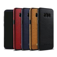 Wholesale Stitch Phone Cases - Phone Cases Leather Case PU Business Stitching For Samsung Galaxy S6 S7 S8 Note 8 S9 Plus Case Full Package Soft 4 Colors