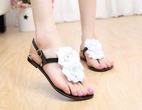 Wholesale Lambdoid Flip Flop - Camellia female sandals jelly shoes fashion shoes slip-resistant lambdoid female flip-flop free shipping