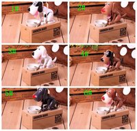 Wholesale Dog Music Box - Cartoon Dog Model piggy bank Eat Bank Money Save Pot Saving Coin Box I Love money piggy bank Coin Box Creative Gift