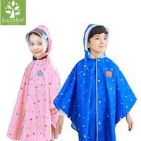 Wholesale Princess Kids Raincoats - Kocotree Kids Rain Suit Fun Raincoats Princess Outdoor Thicken Waterproof Rain Coat for Girls 3 Colors Raincoat Kids Rainwear