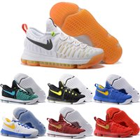 Wholesale Cheap Kd Boots - Wholesale 2016 Cheap Basketball Shoes Men Durant 9 IX Boots New Color Top Quality Authentic KD Sneakers Low Cut KD9 Sports Shoes Size 40-46