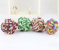 Wholesale New Design Pets Rope Ball Toys Bite Ball Colorful Toys Dog Wool Ball Small Size Toys Pet Puppy Chew Toys