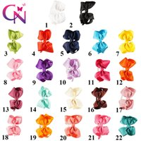 Wholesale Headbands Babies Hard - 22 Pcs lot High Quality Solid Ribbon Hair Bow Hairband for Baby Boutique Cute Hard Teeth Headband for Girl Hair Accessories