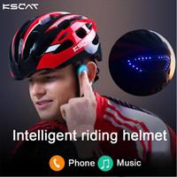 Wholesale Helmet Red - Kscat Bone Conduction Smart Cycling Helmet Mountain Bike Helmet Multifunction-Molded Bluetooth Bicycle Helmet Contain Gift Red Blue Yellow