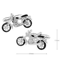 Wholesale Electroplated Cufflinks - Free shipping The locomotive lovers Metal paint electroplating motorcycle cufflinks 960034