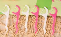cepillo dental palillo al por mayor-25 unids / pack Hilo Dental Cepillo Interdental Dientes Stick Palillos de dientes Floss Pick Oral Gum Dientes Cuidado de Limpieza