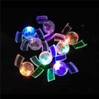 Wholesale Decorated Dresses - Halloween LED Flash Light Mouth Guard Toys Party Glowing Tooth Toy Decorate Club Fashion Dress 3002054