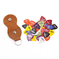 Assorti Thickness Color 20pcs Guitar Picks Alice Matte Acoustic Electric Picks + 1 cuir Key Chain Guitar Picks Holder sac Case