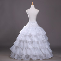 Wholesale wedding dress hoop slips for sale - Group buy 2016 New Ball Gown Petticoat White Crinoline Underskirt Wedding Dress Slip Hoop Skirt Crinoline For Quinceanera Dress Cheap