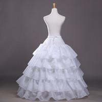 faldas de aro para vestidos de quinceañera. al por mayor-2016 Nueva vestido de bola de la enagua blanca crinolina enagua del vestido de boda de deslizamiento 3 del aro falda de crinolina para el envío vestido de quinceañera libre barato