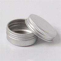 Wholesale samples resale online - 10ml Screw Cap Round Small Sample jar g Cosmetic Beauty Make up Empty Aluminum can Jars metal lip balm containers