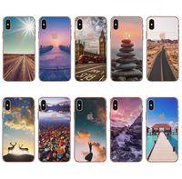 Wholesale Iphone Clear Case Colours - For Apple iphone 8 iphone 7 plus 6S plus silicone coloured drawing case landscape Plating TPU cell phone cases Elizabeth Tower Big Ben