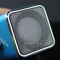 Wholesale Musik Bluetooth - Blue 100% Asli MD07 Upgrade Speaker Mini Warna MD07 USB Musik Angel Speaker Kotak Suara Kartu TF Free Shipping