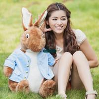 Wholesale Peter Rabbit Plush - Dorimytrader 31''   80cm Giant Stuffed Peter Rabbit Doll Soft Plush Cartoon Anime Rabbit Toy Great Present Free Shipping DY61042
