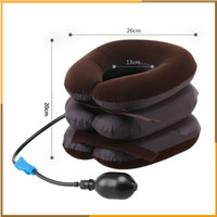 Wholesale Cervical Traction Devices - High Quality Air Cervical Neck Traction Soft Brace Device Unit for Headache Head Back Shoulder Neck Pain Health Care by DHl free