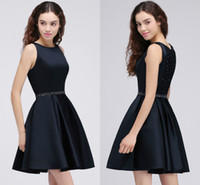 Wholesale plus size hot model resale online - 2018 New Hot Dark Navy Crystals Homecoming Dresses Mini Short Sparkling Beaded Cocktail Party Wear Graduation Dresses CPS688
