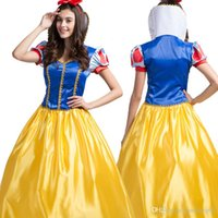 Wholesale Snow Women Xxl - 2017 Cosplay Snow White Dress Fantasia The Fairy Tale Role Halloween Costumes Dancing Party Princess Clothing Including Accessories 2017