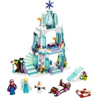 Wholesale Castle Toy For Girls - Dream Princess Elsa Ice Castle Princess Anna Friends Model Building Blocks Set 316pcs Toys for Girls Gift Compatible Lepin 41062