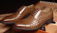 Wholesale Men Office Shoes Brown - 2016 fashion designer formal men dress shoes genuine leather black brown business casual men leather shoe flats office