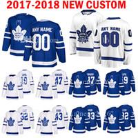 lupul hockey jersey джерси оптовых-Custom 2018 New Toronto Maple Leafs 19 Джоффри Лупул 47 Лео Комаров Джерси Хоккей 32 Джош Лейво 43 Футболки Назем-Кадри