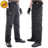Großhandel-Outdoors Schwarz Straight Multi-Pocket Military Traning Kommando Tactical Baggy Combat Overalls Armee Cargo Hosen Männer Plus Size 3XL