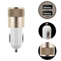 Wholesale car dual usb amp for sale - Best Metal Dual USB Port Car Charger Universal Amp for Apple iPhone8 X Plus Samsung Galaxy Motorola Droid Nokia Htc US01