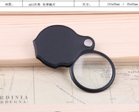 Wholesale Folding Microscope - 5X Mini Glass Lens Pocket Magnifier with Leather Pouch Folding Magnifying Glasses Tool Lupas De Aumento Microscope Ferramentas