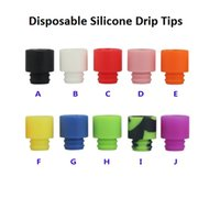Wholesale Silica Tips - Disposable Silica Gel Drip Tip Silicone 510 Mouthpiece Wide Bore E Cigarette fit RDA Atomizer High quality DHL Free