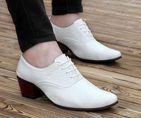 Wholesale High Qualit Dress - Italian Fashion Leather Men Shoes Point Toe Elegant Qualit Leather Mens Dress Flats Shoes Oxford Shoes For Men Business Shoes,size38-44