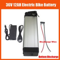 Wholesale 36v Electric Bike Battery Pack - More Discount 36V 12AH battery 500W 36V 12AH Electric Bike battery Pack with 42V 2A charger and 15A BMS Bottom Discharge