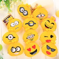Wholesale Korean Wholesale Christmas Gift Bags - Korean Candy Colored Girls Coin Bags Women Key Wallets Cute Cartoon Silicone Mini Coin Purse Children Kids Gifts