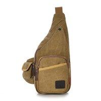 Wholesale Shoulder Bag Man Crossbody - Wholesale-Vintage Women Men Outdoor Sport Chest Pack Women Casual Canvas Crossbody Shoulder Bag Fashion Mobile Phone Travel Messenger Bag
