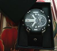 relógio de zona venda por atacado-Com presente BOX novo 2019 DZ homens relógio de quartzo de luxo Relógio de moda Japonês relógio de quartzo 5.0 aço inoxidável dial Multi-time zone