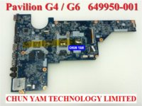 Wholesale Laptop Hp Pavilion G6 - Original laptop motherboard 649950-001 for HP Pavilion G4 G6 G4-1000 G6-1000 Notebook PC systemboard 100% Tested 90DaysWarranty