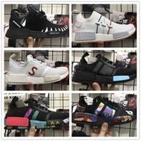 Wholesale Packers Green - 2017 New NEIGHBORHOOD NMD R1 Sneakers Fashion Men Women NBHD KAWS Rainbow World Famous Diamond Packer PK Boost Sneakers Size 36-45