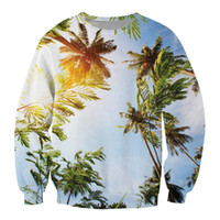 Wholesale s clothes tree resale online - New Arrival Brand Clothing Fashion D Printted Men s Hoodies Cocont Tree Printed Hoodies Sweatshirt Outwear Sport Suit Men