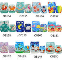 Wholesale Baby Positioning - 5Pcs lot Baby Nappy Diapers Suede Cloth Diaper Cover Position Print Pocket Diaper Nappies One Size Adjustable Diapers Reusable