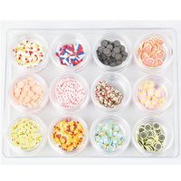 Wholesale Earing Mixed - Cake Ice Cream Design Fimo Slice Nail Decoration Mix Color 12 Pots 3D Manicure Earing Accessories