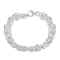 Wholesale Solid Silver Jewelry Factory Prices - Beautiful Jewelry 925 Solid Silver Classic Hoop Chain Bracelets High Quality Cheap Shrimp Buckle Bracelet For Women Mens Factory Price