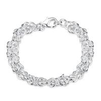ingrosso belle catene d'argento-Bei gioielli 925 solido argento classico cerchio catena bracciali di alta qualità economico gamberetti fibbia braccialetto per le donne mens prezzo di fabbrica