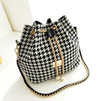 Wholesale Drawstring Bag Trend - women bag New Women Handbag National Trend Bohemia Style Print Chain Drawstring Bucket Bag Women Messenger Bag